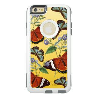 les papillons mélangent le jaune coque OtterBox iPhone 6 et 6s plus