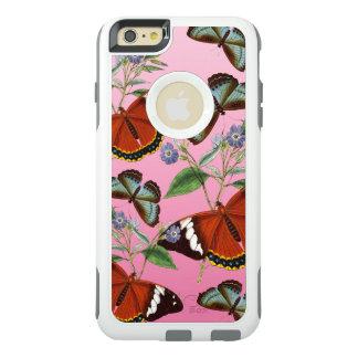 les papillons mélangent le rose coque OtterBox iPhone 6 et 6s plus