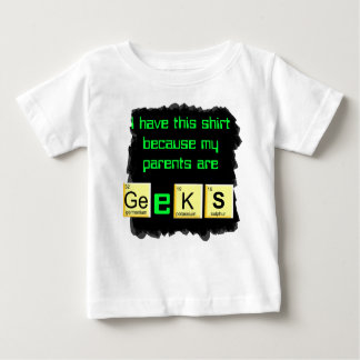 les parents sont chemise de bébé de geeks t-shirt