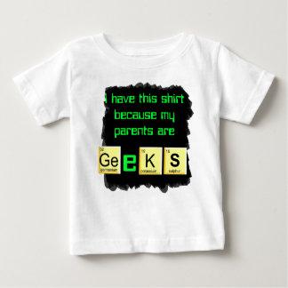 les parents sont chemise de bébé de geeks t-shirt pour bébé