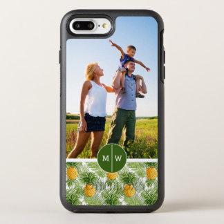 Les paumes et Pineapples| ajoutent votre photo et Coque Otterbox Symmetry Pour iPhone 7 Plus