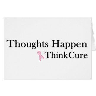 Les pensées se produisent pensent le traitement cartes