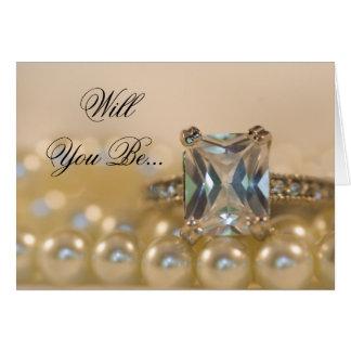 Les perles de princesse bague à diamant soient ma cartes