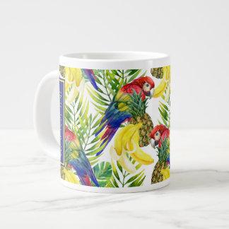 Les perroquets et le fruit tropical | ajoutent mug
