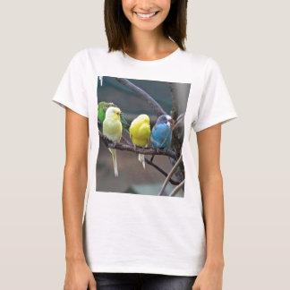 Les perruches de perruches Parrots des amants T-shirt
