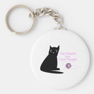 Les personnes de chat sont les personnes fraîches porte-clé rond