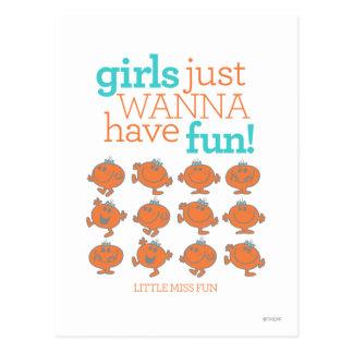 Les petites filles de Mlle Fun | veulent juste Carte Postale