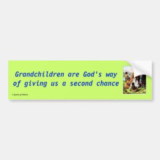Les petits-enfants sont la manière de Dieu Autocollant Pour Voiture