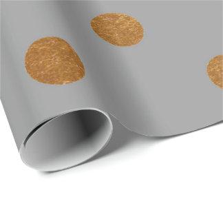 Les petits points de polka chauffent le graphite papier cadeau