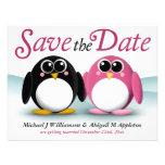 Les pingouins adorables sauvent les annonces de da invitation personnalisable