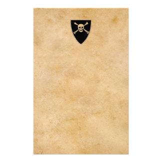 Les pirates se connectent le vieux parchemin papier à lettre customisé