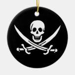 Les pirates sont l� - ornement rond en céramique