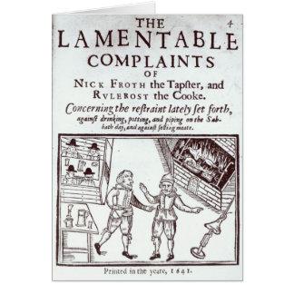 Les plaintes lamentables cartes