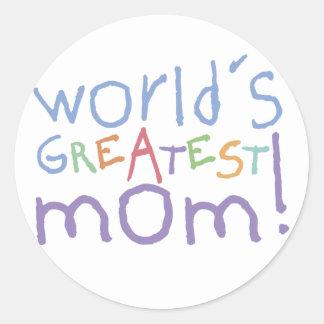 Les plus grands autocollants de la maman du monde