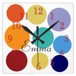 Les points lumineux mignons ajoutent l'horloge horloge carrée