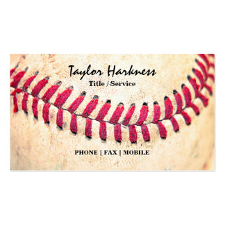 Les points rouges de base-ball vintage se ferment  cartes de visite professionnelles