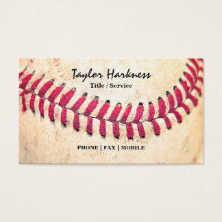 Les points rouges de base-ball vintage se ferment cartes de visite