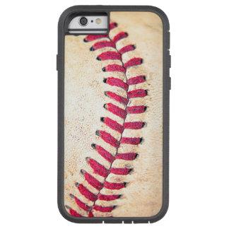 Les points rouges de base-ball vintage se ferment coque tough xtreme iPhone 6
