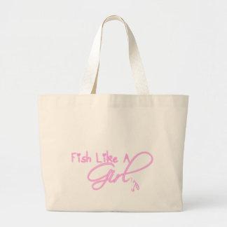 Les poissons aiment une fille sac en toile