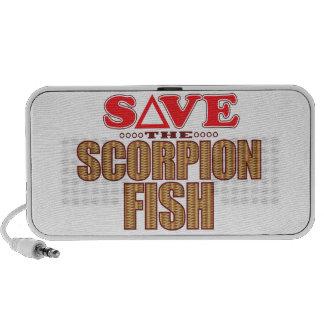 Les poissons de scorpion économisent haut-parleurs iPod