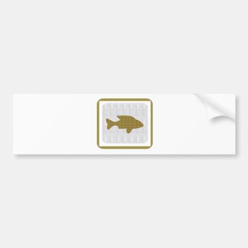 Les poissons d'OR choient les enfants aquatiques d Adhésif Pour Voiture