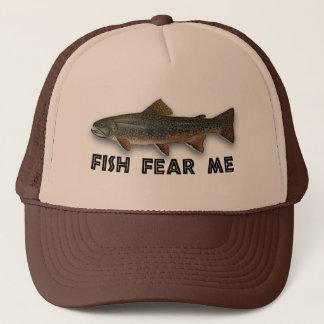 Les poissons drôles de pêcheur me craignent casquette