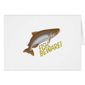 Les poissons prennent garde carte de vœux