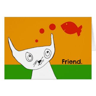 Les poissons sont carte pour notes d'amis