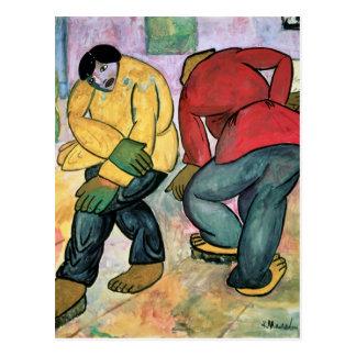 Les polisseurs de plancher, 1911 carte postale