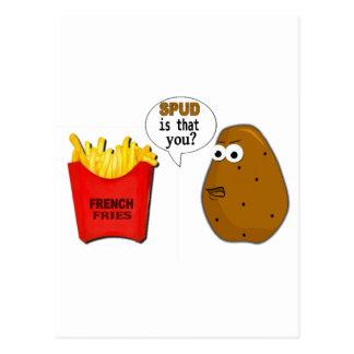 Les pommes frites de pomme de terre sont que vous carte postale