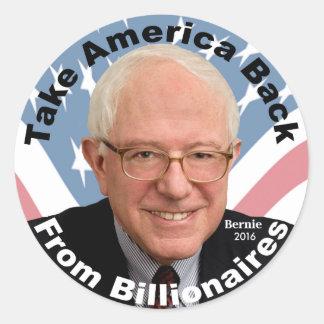 Les ponceuses de Bernie rapportent l'autocollant Sticker Rond