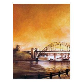Les ponts, Newcastle sur la carte postale de Tyne