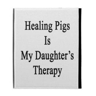Les porcs curatifs est la thérapie de ma fille étui iPad folio