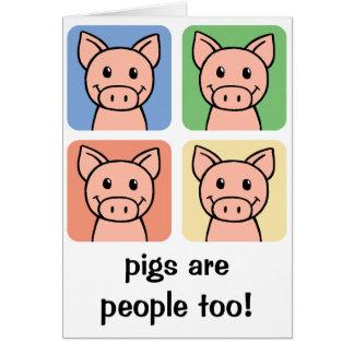 Les porcs de clipart (images graphiques) de bande cartes de vœux