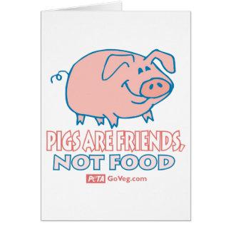 Les porcs sont carte d'amis