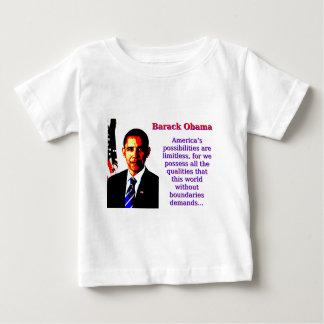 Les possibilités de l'Amérique sont sans limites - T-shirt Pour Bébé