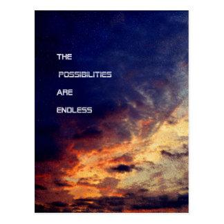 Les possibilités sont carte postale sans fin