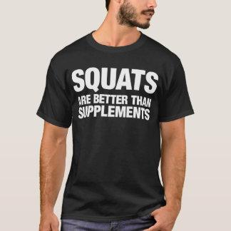 Les postures accroupies sont meilleures que des t-shirt