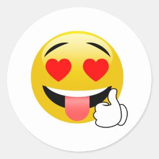 Les pouces lèvent des autocollants d'Emoji de yeux