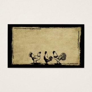 Les poulets dans la basse-cour Prim des cartes de