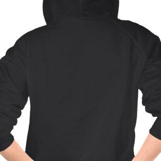 Les poussins roses de dopant de trouille sur noir sweatshirts avec capuche