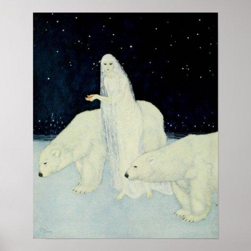 Les premiers coeurs brisés sourcilleux de neige posters