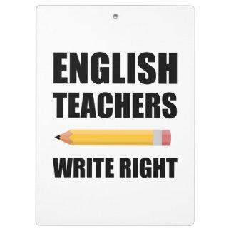 Les professeurs d'Anglais écrivent juste