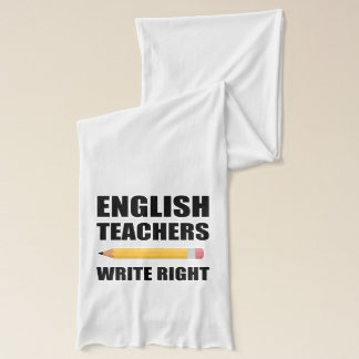 Les professeurs d'Anglais écrivent juste Écharpe