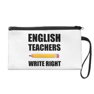 Les professeurs d'Anglais écrivent juste Pochettes Avec Dragonne