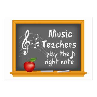 Les professeurs de musique jouent la bonne note carte de visite grand format