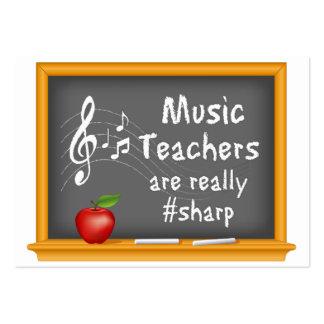 Les professeurs de musique sont vraiment # dièse carte de visite grand format