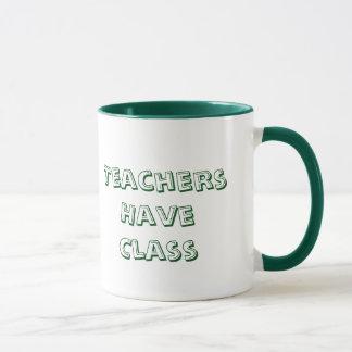 Les professeurs ont la tasse de café de classe