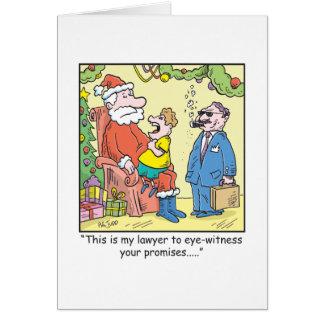 Les promesses de Père Noël de bande dessinée de Carte De Vœux