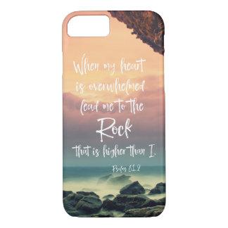 Les psaumes me mènent au vers de bible de roche coque iPhone 7